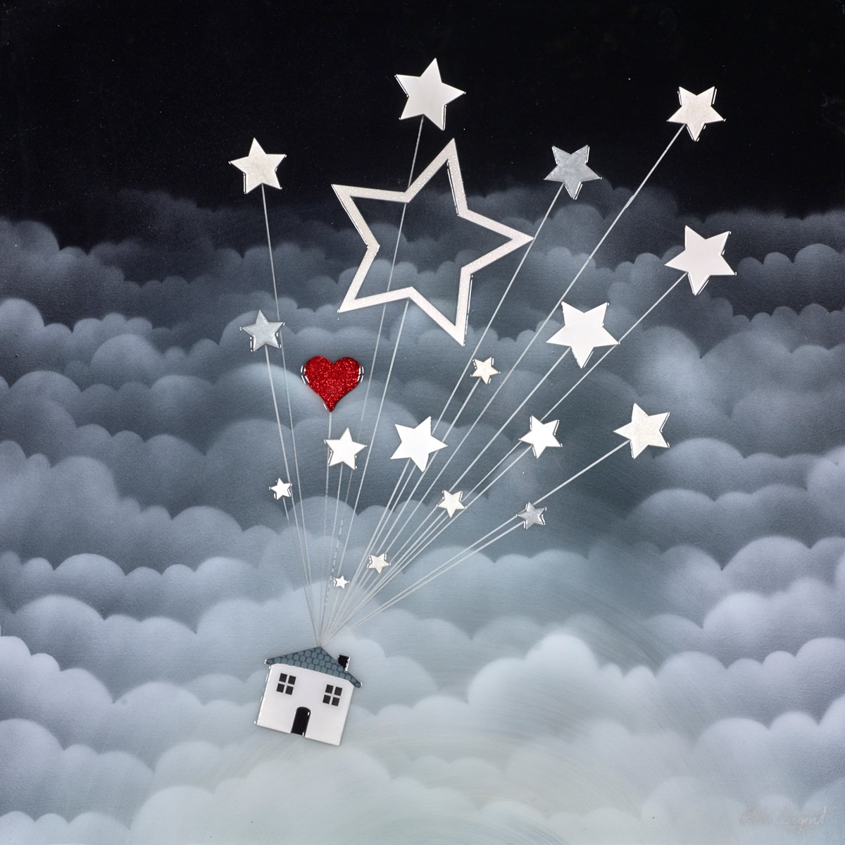 To the Stars by chloe nugent -  sized 24x24 inches. Available from Whitewall Galleries